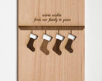 Stockings, Warm Wishes, Beautiful Christmas Card, Christmas Decor