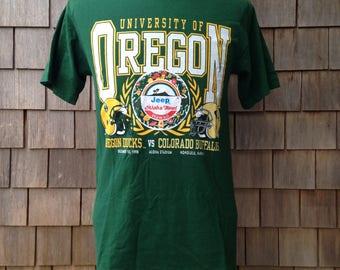vintage Oregon Ducks 1998 Aloha Bowl T Shirt - Medium slim - University of Oregon