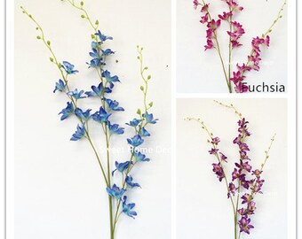 JennysFlowerShop 40'' Silk Dendrobium Orchid Artificial Spray (Set of 2) for Wedding/Home Decorations