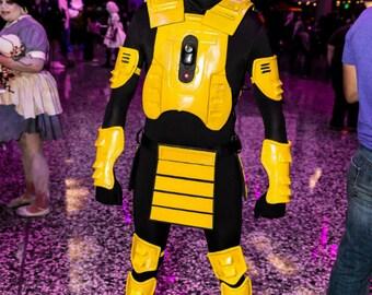 Cyborg Smoke Mortal Kombat Cosplay Costume Cyber Cyrax
