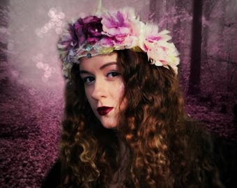 THE ROSE FAERIE {Flower Crown, Festival Crown, Gypsy, Bridal}