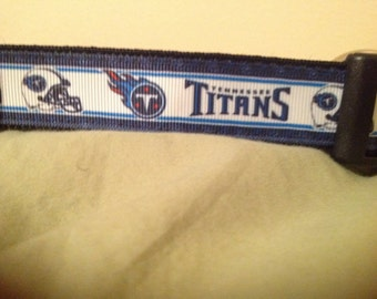 1 Inch Custom Made Adjustable Tennessee Titans Dog Collar