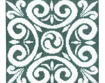 Celtic Triskele Motif Cross Stitch Pattern - Digital Download