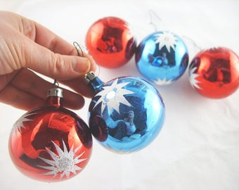 Vintage bauble antique baubles christmas tree Old Colourful Baubles Eastern Europe unique baubles Glass Balls Decorations Ornaments