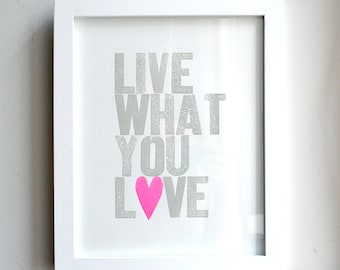 Live What You Love Special Edition Neon Pink Heart - on sale!
