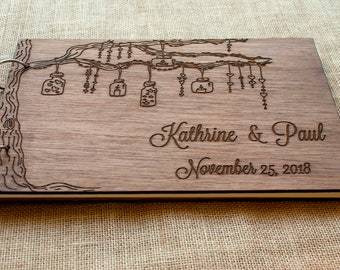 rustic wedding guest book/ wood guest book / wedding gift / wooden guest book / wood wedding guest book / anniversary gift / gift guest book