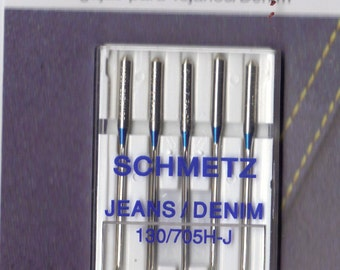 Schmetz Jeans, denim sewing machine needles size 100,16  pack of 5