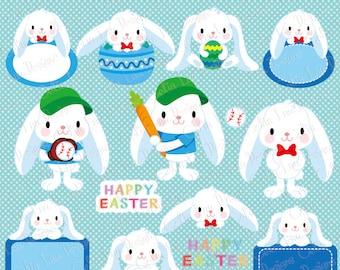 Easter clipart, Easter Bunny clipart, Floppy Ear Bunny clipart, Boy Bunny, Baseball Bunny, Sport Bunny (CG211)