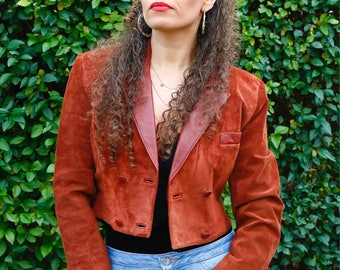 Lakeland Rust Suede Cropped Jacket