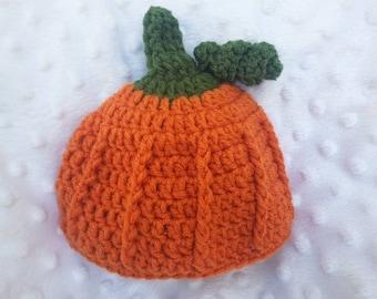 Crochet Pumpkin Hat, Crochet Beanie, Pumpkin Hat, Fall Hat, Winter Hat, Crochet Pumpkin Beanie, Crochet Hat, Pumpkin Beanie, Child's Hat