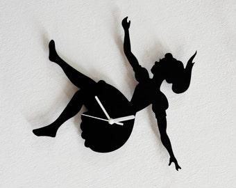 Alice in Wonderland Falling in the Rabbit Hole - Wall Clock