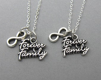 Forever Family Necklace - Custom family necklace, family for infinity, infinity symbol