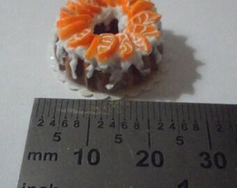 Orange Bundt Cake 1:12 scale (2 for 7.00)