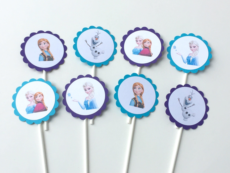 FROZEN Cupcake Toppers Frozen Toppers Frozen Birthday