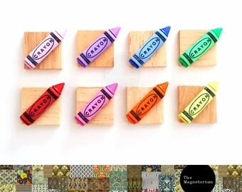 Crayon Fridge Magnet Set