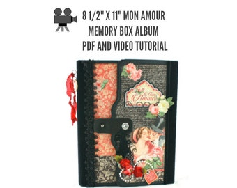 "8 1/2"" x 11"" Mon Amour Scrapbook Album PDF and Video Tutorial"