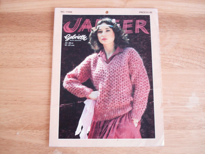Vintage JAEGER Gabrielle Yarn Leaflet Issue 17028.