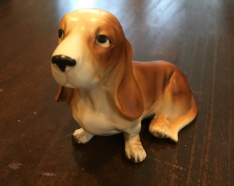 Enesco Basset Hound Dog figurine ceramic vintage