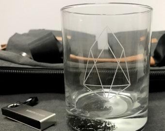 EOS + Moon Main Net Celebration Launch Glass