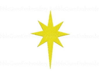 Star of Bethlehem Embroidery Design Instant Download