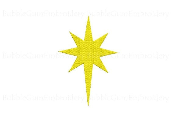star of bethlehem embroidery design instant download rh etsy com Star of Bethlehem Silhouette star of bethlehem pictures clip art