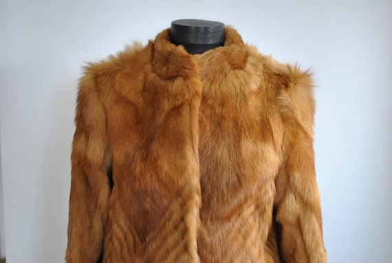 278 fur Vintage FOX coat COAT FUR women's glamorous Z6ZSz0Fwq