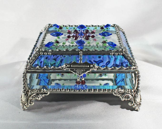 Jewel Encrusted 5X5 SILVER