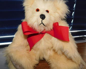 SALE Handcrafted Faux Fur Fully Jointed Teddy Bear 12""