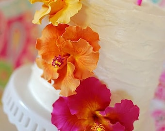 Made to Order Clay Hibiscus Cake Flowers (as seen on Hostess with the Mostess Blog)