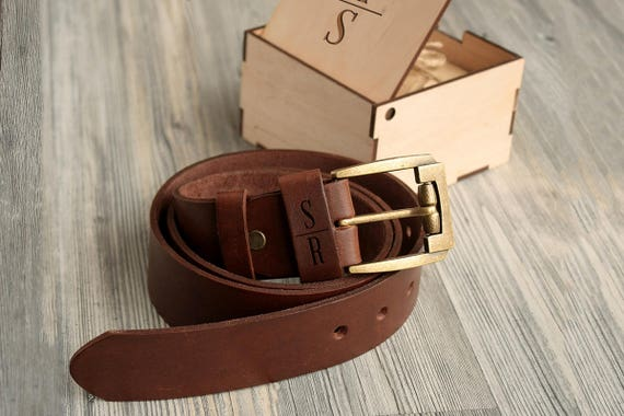 What dad doesn't need a personalized BELT?! Every dad ever needs this. DO EET!