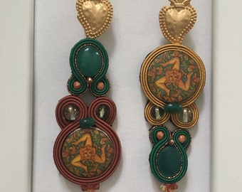 Sacred and profane earrings