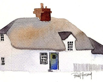 English Cottage 6-Print from an original watercolor painting
