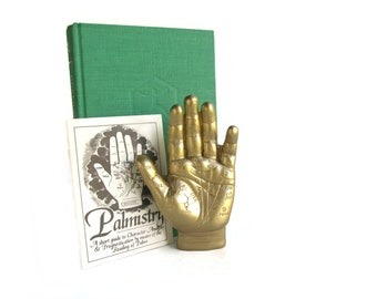 Palm Reading Hand - Fortune Telling Game - Witchcraft Supply - Palmistry Hand Statue - Occult Decor - Metaphysical Gift