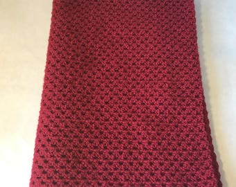 Lap blanket, Office throw, Wheelchair lap cover, Home decor, Couch throw, Valentine's day decor, Cranberry red
