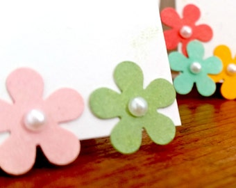10% OFF-5/pack-Personalised/Hand crafted Flower Power Place Cards