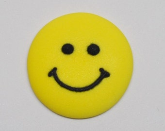 24 Royal Icing Smiley Faces for cake decoration cupcake topper