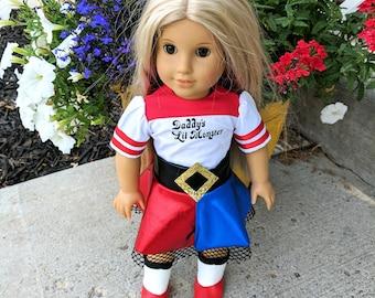 Harley Quinn doll clothes, Harley Quinn costume, Harley Quinn doll outfit