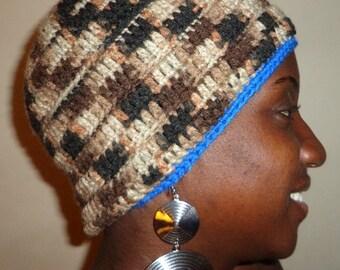 Platty Blues, Crochet Beanie Cap