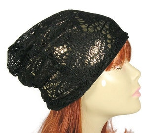 FREE SHIPPING Black and Gold Goth Slouch Hat Halloween Skull Beanie Skull Slouchy Beanies Halloween Costume Hat Black and Gold Slouchy Hat