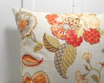 pillow covers cushion cover decorative pillow Autumn botanical zipper P Kaufmann 16 18 20 22