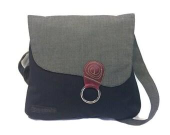 Schwarz gestreift Klappe Handtasche, Umhängetasche, Rucksack, Rucksack Schultergurt, Reisetasche, Aktentasche, Handtasche, Cabrio Tasche Bag Medium