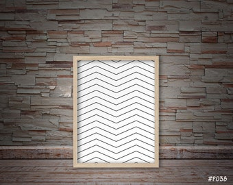 black and white wall decor, bedroom decor, office decor, geometric decor #P038
