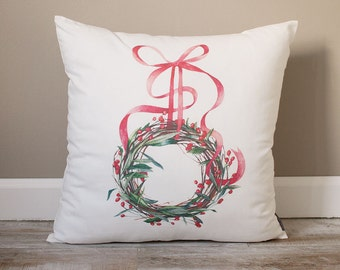 Christmas Wreath Pillow | Christmas Pillow | Holiday Pillow | Christmas Gift | Rustic Home Decor | Holiday Decor | Christmas Decor