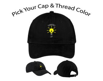 Thinking Cap Dad Cap, Thinking Cap Dad Hat, Thinking Cap, Dad Cap, Dad Hat, Funny Hat, Cap, Hat, Cap Daddy