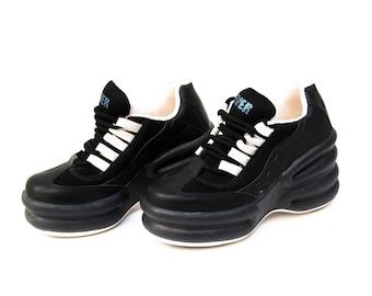platform shoes vintage platform platform sneakers black platform boots leather black shoes 90s platforms womens platform high fashion shoes