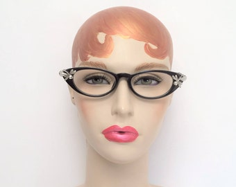 Cat Eye Reading Glasses with dragonflies