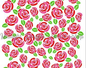 3-piece Rose Background (Digital Download (SVG))