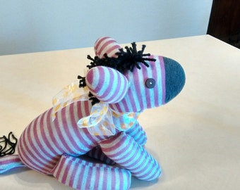 Sock Zebra Plush