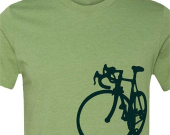 Bicycle T-shirt-La Bicicleta-Road Bike tshirt-more colors available-Cycling ,bike tshirt,Bicycle tee,bike gift, cycling gift, men's gift