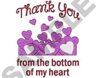 Thank You Hearts - Machine Embroidery Design